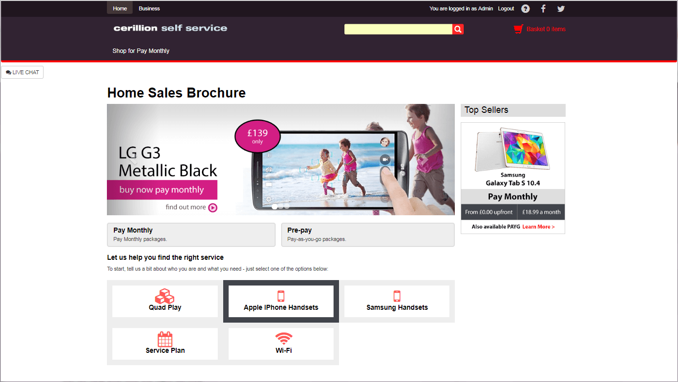 Sales - Home Page