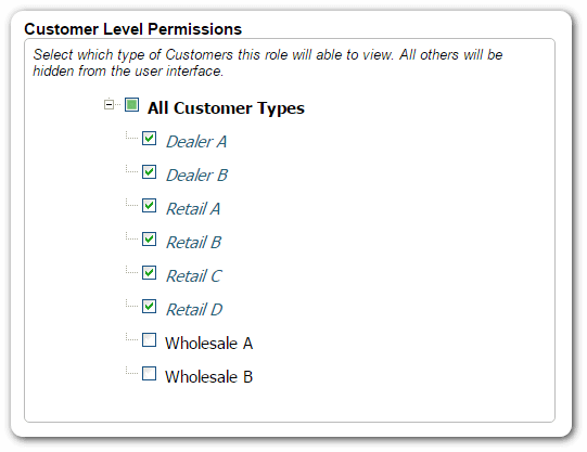 Multi-level access permissions